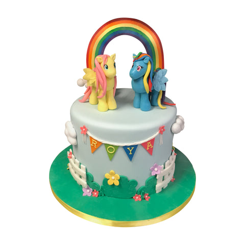 Pink and Purple Unicorn Fairytale Cake