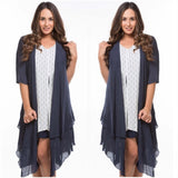 Quelque Open Layered Summer Cardigan Navy