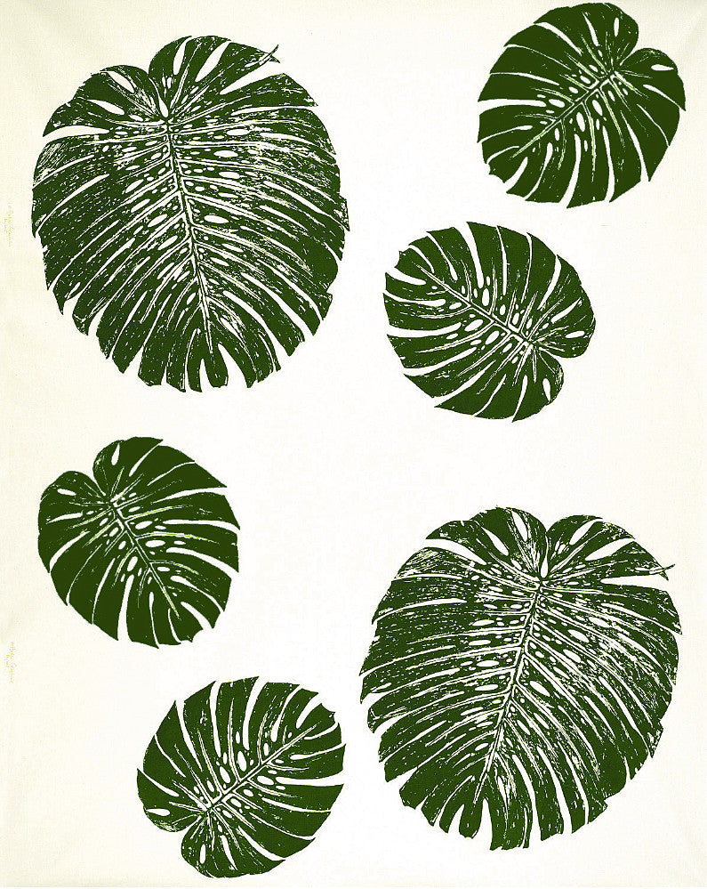 Monstera Leaf Print Fabric