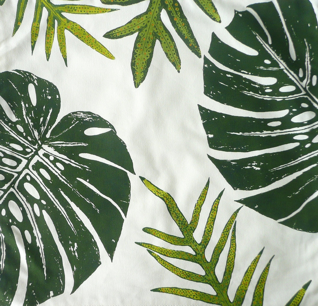 Tropical ferns and Monstera leaf Pillow Cover