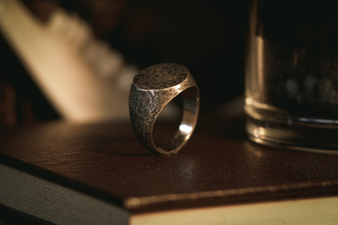 Dark Gnosis - Large Round Signet Ring