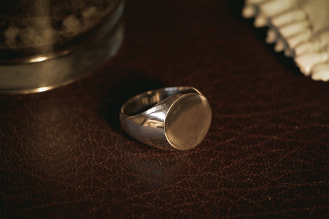 Large Round Signet Ring