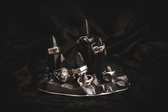 Limited Edition Ceramic Stalagmite Ring Holder - Matte Black