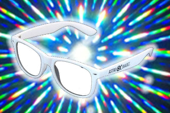 White Frame w/ Clear Diffraction Glasses Astroshadez-Other Unisex Clothing & Accs-Astroshadez-White-ASTROSHADEZ.COM