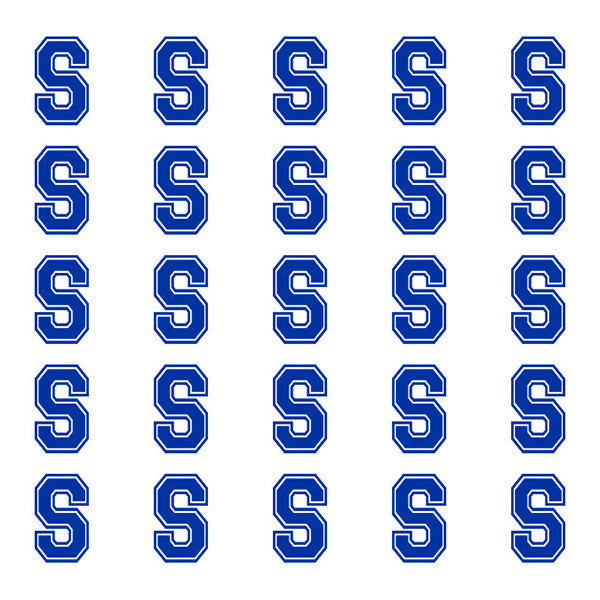 ID4 Varsity Small Navy Blue Letter S