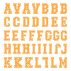 iD4 Varsity Letter Kit Orange Small Neon Sheet 1