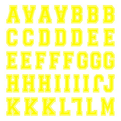 iD4 Varsity Letter Kit Yellow Small Neon Sheet 1