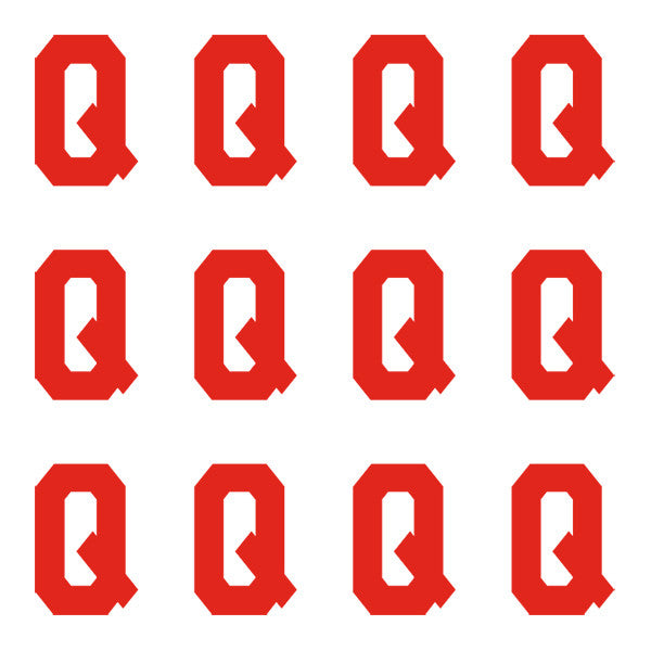 ID4 Varsity Pro Large Red Letter Q