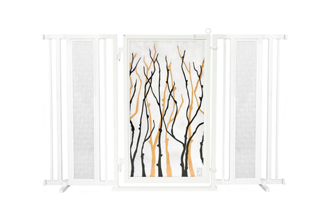 "60"" - 65"" Linear Lace in White Fusion Gate, Black Finish"