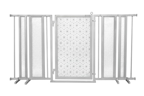 "65"" - 71.5"" Chevron Trail in Blue Fusion Gate, White Pearl Finish"