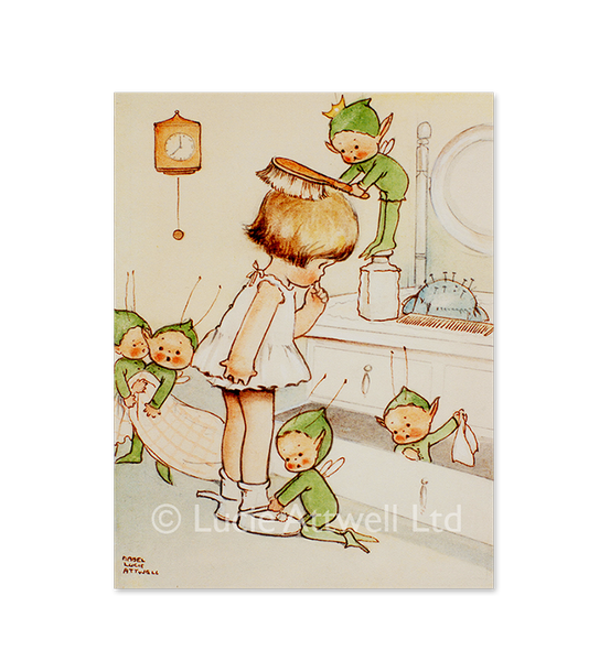 Mabel Lucie Attwell The Boo-Boos get Bunty ready limited edition print
