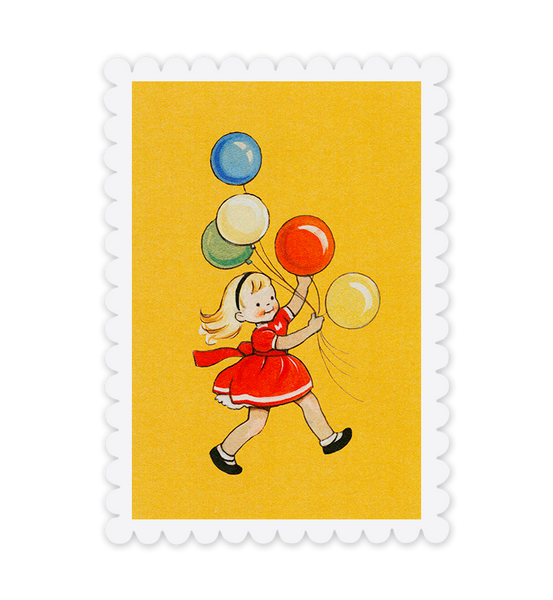 Mabel Lucie Attwell Up and away! Balloon Girl postcard