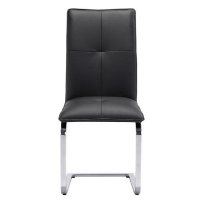 Sleek Black Guest or Conference Chair (Set of 2)