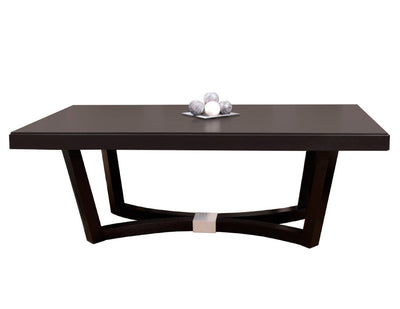 "Modern 84"" Conference Table in Wenge Finish with Optional Credenza"