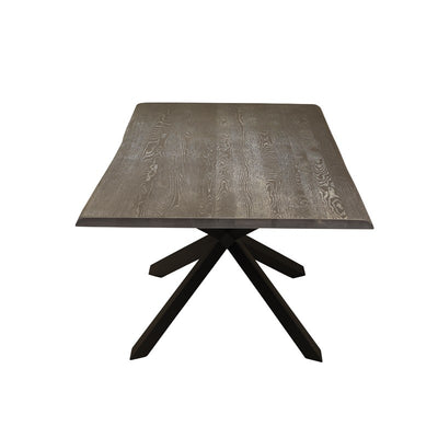 "112"" Gorgeous Oxidized Grey Conference Table w/ Matte Black"