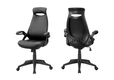 Black Rolling Office Chair w/ Ergonomic Features