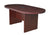 "71"" Racetrack Conference Table with Power Data Port in Mahogany"