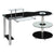 Black Glass & Chrome Modern Executive Desk