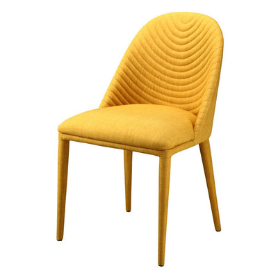 Fabric-Covered Yellow Guest or Conference Chair (Set of 2)
