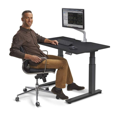 "60"" Premium Sit-Stand Office Desk with Base & Top Color Options"