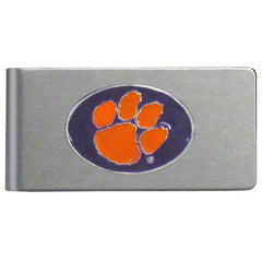 Clemson Brushed Money Clip