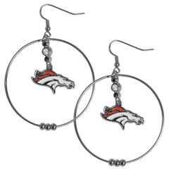 "Broncos 2"" Hoop Earrings"