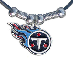 Leather NFL Necklace & Pendant - Tennessee Titans