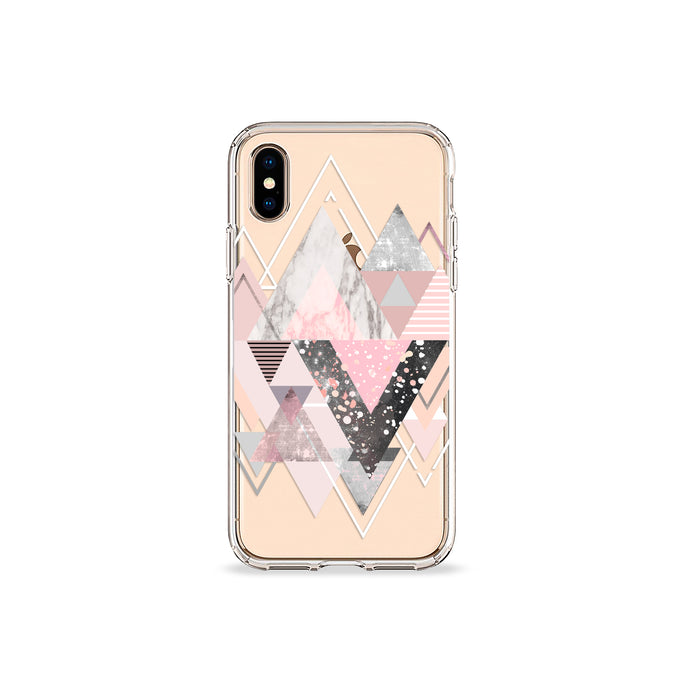 Marble Blush Clear iPhone Case - bycsera