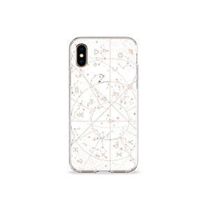Constellations Clear iPhone Case - bycsera
