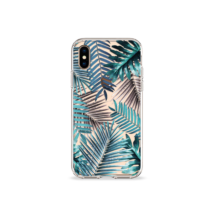 Emerald Palms Clear iPhone Case - bycsera