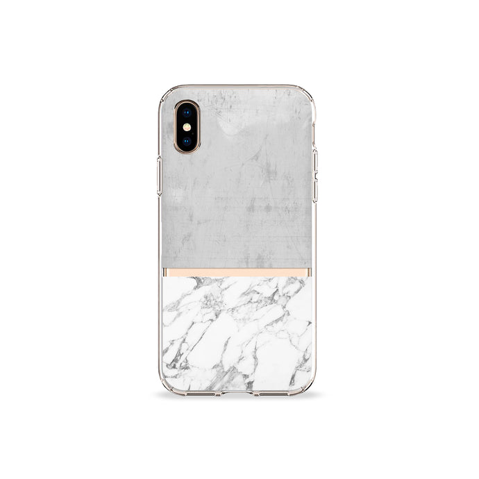 Grey Marble Clear iPhone Case - bycsera