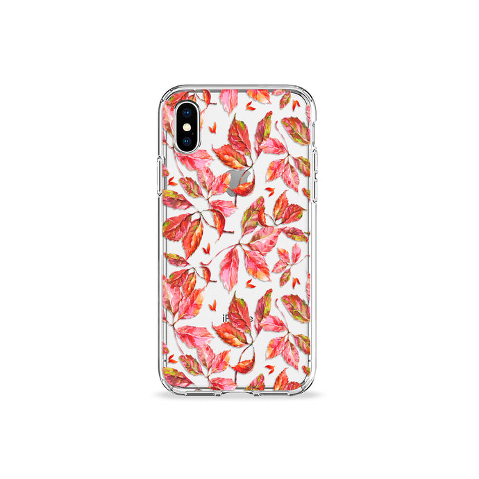 Fall Leaves Clear iPhone Case - bycsera