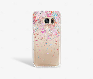 Confetti Clear iPhone Case - bycsera