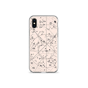 Desert Constellation Clear iPhone Case - bycsera