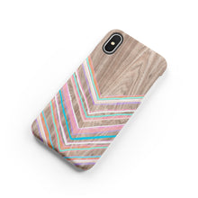 Load image into Gallery viewer, Pastel Chevron Snap iPhone Case - bycsera