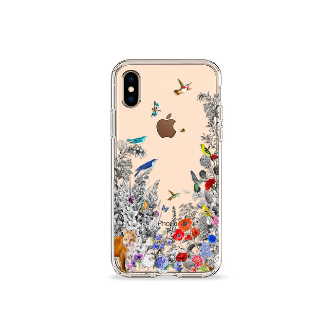 Fox Garden Clear iPhone Case - bycsera