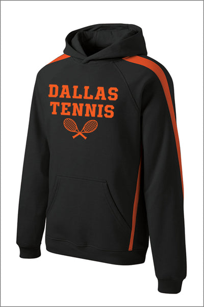Dallas Tennis Sleeve Stripe Pullover Hooded Sweatshirt (Adult Unisex)