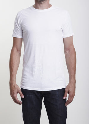 White Athletic Organic California Cotton Tshirt