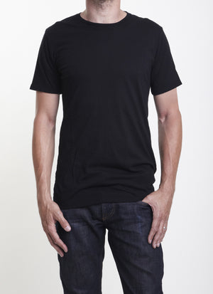 Black California Organic Cotton Athletic Tshirt