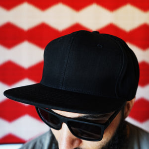 Cone Mills White Oak Selvage Denim Hat in 12oz Double Black