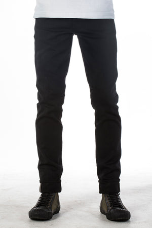 The Skeleton Skinny 14oz 'Sable' Black Selvage Denim