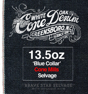 The Slim Straight 13.5oz 'Blue Collar' Cone Mills Selvage