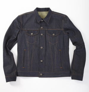 The Ironside 13.5oz Brown x Indigo Cone Mills Jacket