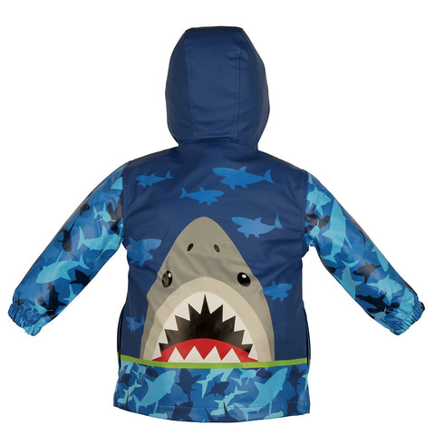 Hungry Shark Personalised Raincoat
