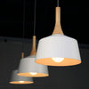 white modern wood ceiling lamp