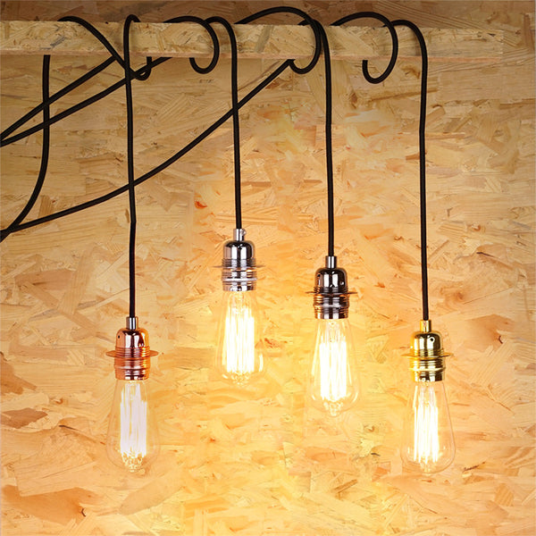 vintage wired edison bulb hanging lamp
