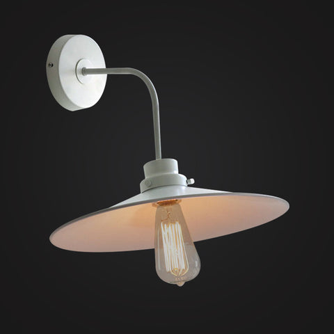 industrial modern white wall sconce