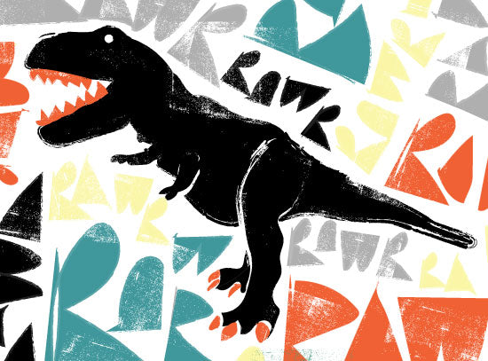 T-Rex Rawr Kids Room Poster on sale at Pottery Barn Kids!