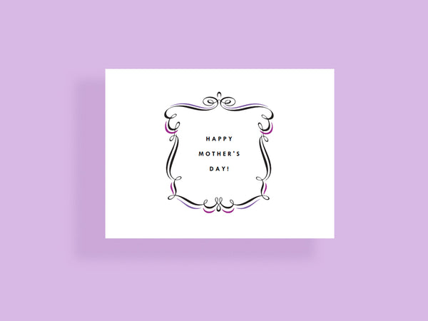 Make your own notecard templates - purple and black framed text -simple typography - e.m.papers