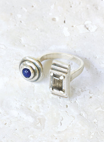 flex adjustable silver ring